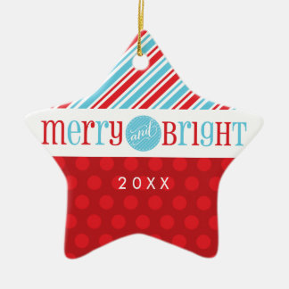 PHOTO CHRISTMAS STAR ORNAMENT :: merry & bright 1