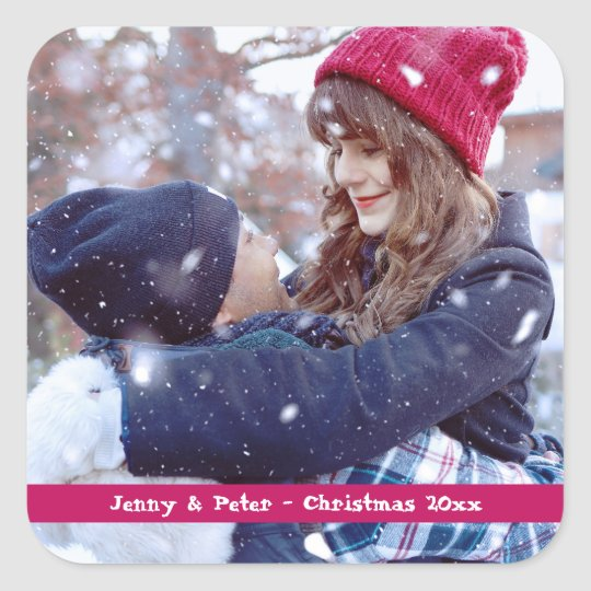 Photo Christmas Stickers (sheet of 6)