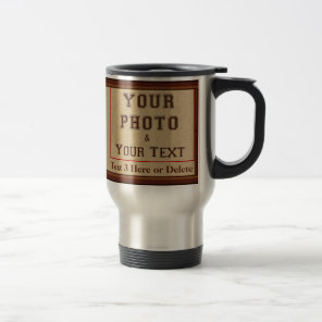 Photo Coffee Travel Mugs for Him, 2 Photos, 3 Text