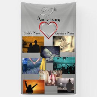 Photo Collage 25th Wedding Anniversary