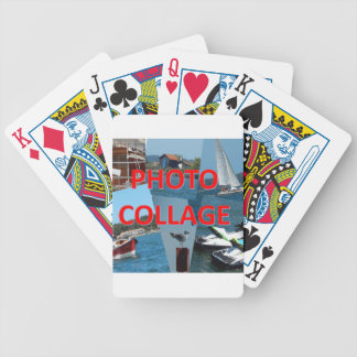 Photo collage bicycle playing cards