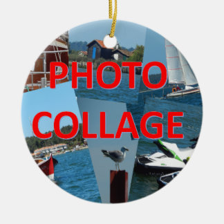 Photo collage christmas ornament