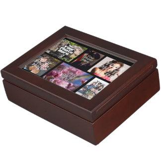 Photo Collage Custom Digital Picture Keepsake Box