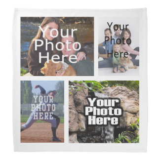 Photo Collage Custom Digital Picture Kerchief