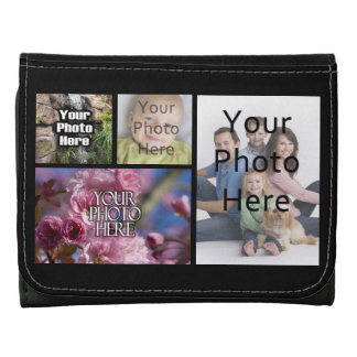 Photo Collage Custom Digital Picture Leather Wallet