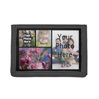 Photo Collage Custom Digital Picture Trifold Wallet