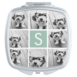 Photo Collage Compact Mirror