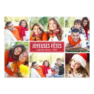 Photo Collage de Noël Carte de Voeux en Rouge