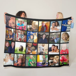 Photo Collage Family Photos Fleece Blanket