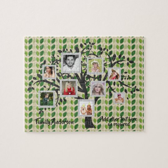 Photo Collage Family Tree Template Personalised 2 Jigsaw