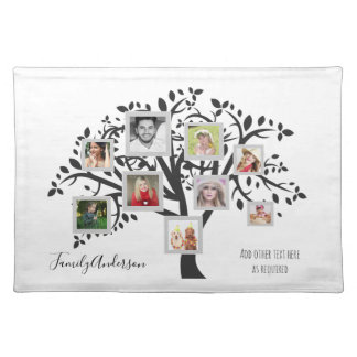 Photo Collage Family Tree Template Personalized Placemat