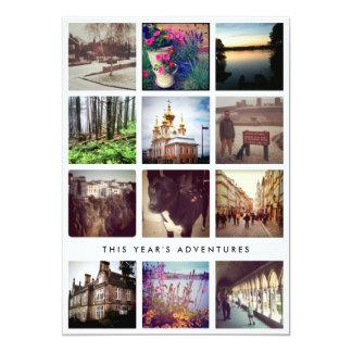 Photo Collage Instagram Happy Holiday Card 13 Cm X 18 Cm Invitation Card