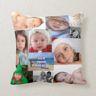 Photo Collage Make Your Own DIY Throw Pillow
