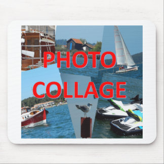 Photo collage mouse mat