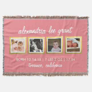 Photo Collage New Parents Gift 4 Baby blanket
