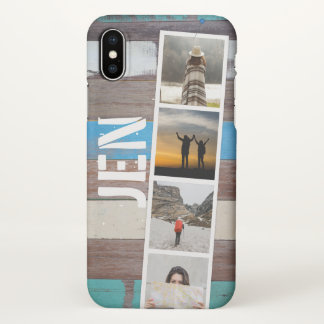 Photo Collage of Travel Memories. Barn Wood. iPhone X Case