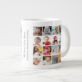 Photo Collage Personalized Custom Make Your Own Large Coffee Mug