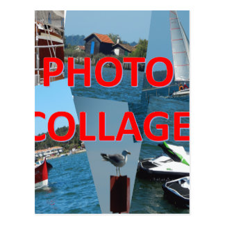 Photo collage postcard