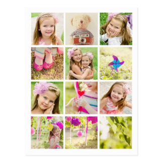 Photo Collage Template Personalized Postcard