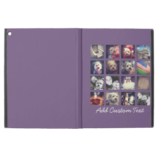 Photo Collage with Aubergine Background - 16 pics