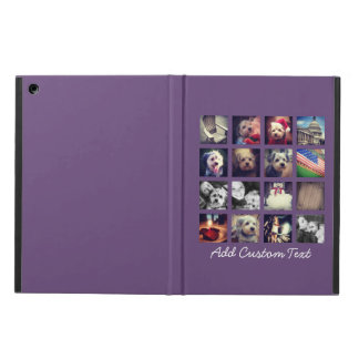 Photo Collage with Aubergine Background - 16 pics iPad Air Case
