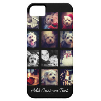 Photo Collage with Black Background Barely There iPhone 5 Case