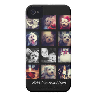 Photo Collage with Black Background iPhone 4 Cases
