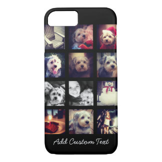 Photo Collage with Black Background iPhone 8/7 Case