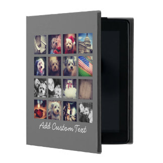 Photo Collage with Charcoal Background - 16 pics Cases For iPad