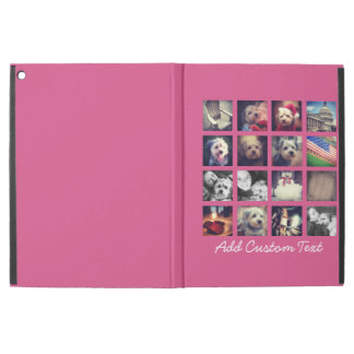 "Photo Collage with Hot Pink Background - 16 pics iPad Pro 12.9"" Case"