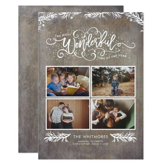 Photo Collage - Wonderful Holidays Card