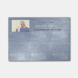 Photo Corporate Blue Gray Chalkboard Post-it® Notes
