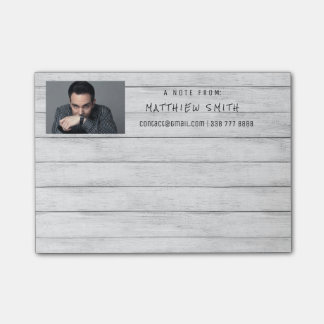 Photo Corporate Grungy White Wood Gray Post-it Notes