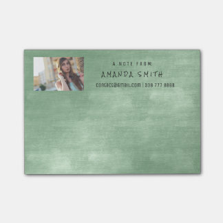 Photo Corporate Mint Green Chalkboard Post-it® Notes