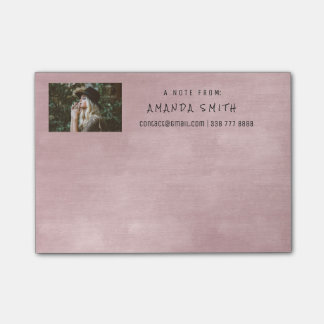 Photo Corporate Rose Pink Powder Chalkboard Post-it® Notes