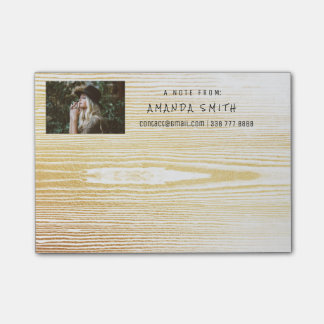 Photo Corporate White Gold Wood Glam Post-it Notes