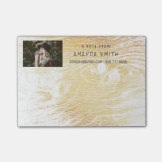 Photo Corporate White Gold Wood Post-it Notes