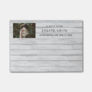 Photo Corporate White Gray Wood Post-it® Notes
