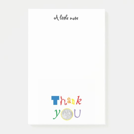photo customised Thank you Post-it Notes