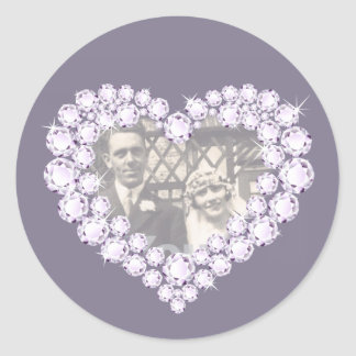 Photo diamond anniversary grey white stickers