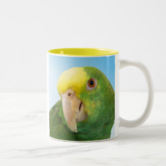 Photo Double Yellow Headed Amazon Parrot Two-Tone Coffee Mug