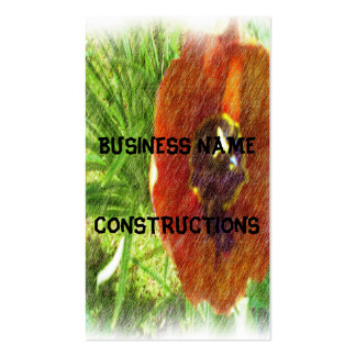 Photo drawing tulips business card template