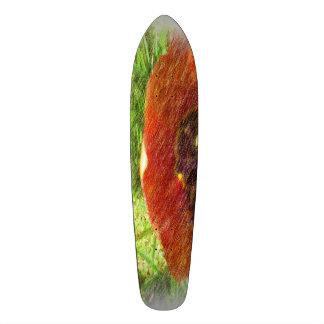 Photo drawing tulips 21.6 cm old school skateboard deck