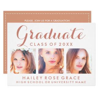 Photo EDITABLE COLOR Graduation Party Invitation