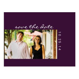 Photo Eggplant Purple Save the Date Postcard 2