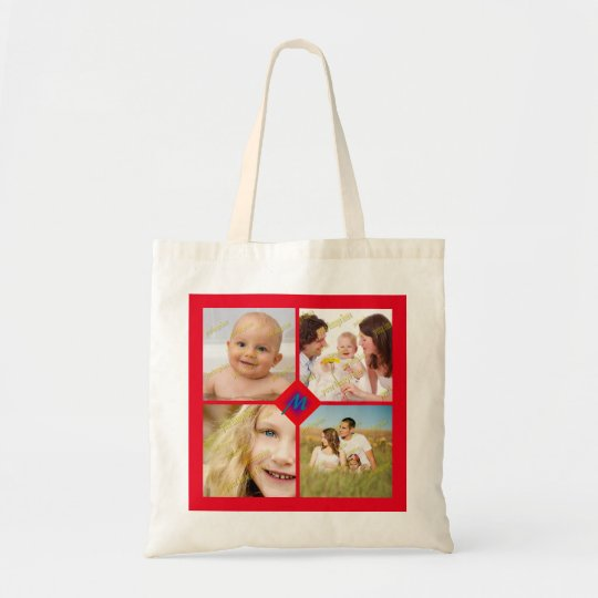 Photo Ensemble Collage Any Colour Background Tote Bag