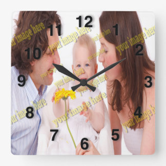 Photo Family Budget Template Square Wall Clock