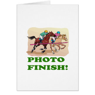 Photo Finish Greeting Card