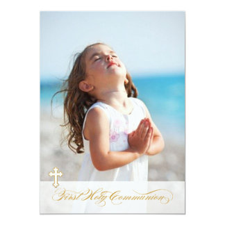 Photo First Communion Invitations