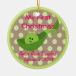 Photo Frame Baby Girl's 1st Christmas Ornament